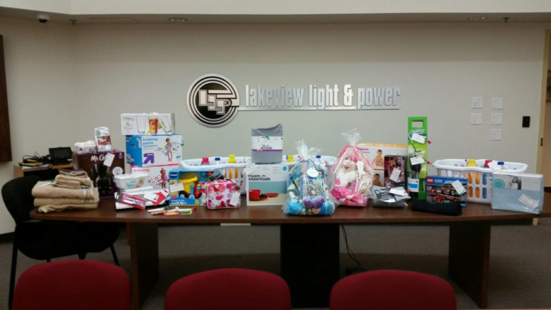 Christmas donations from Lakeview Light & Power