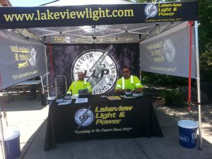 Booth at the Lakewood Farmers Market
